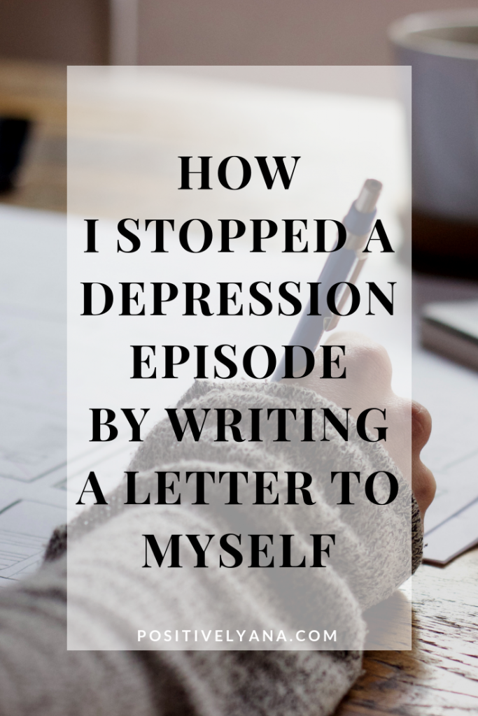 Stop depression by writing a letter to yourself